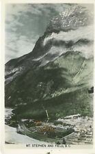 Mt. Stephen & Field BC Canadian Rockies Rocky Mountains Real Photo Postcard D23