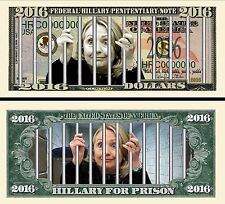 OUR HILLARY FOR PRISON DOLLAR BILL (2 Bills)