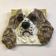 American Cocker Spaniel Dog Ceramic Tile Handmade Pet Portrait Alexander
