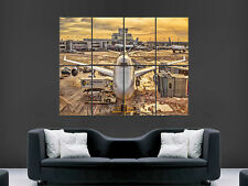 A380 avion aircraft at the Gate ART Énorme photos grand poster géant