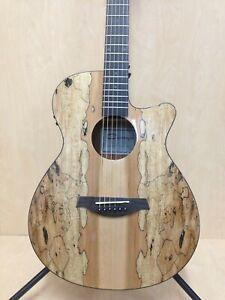 """40"""" Caraya HS-GYPSY-CEQ/GC OM Type Acoustic Guitar,Built-in EQ, Cutaway+Free Bag"""