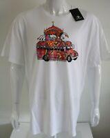 T Shirt Converse Mens Graphic Tee White 100% Cotton Size XXL 2XL