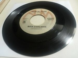"""[1977] Rita Coolidge: We're All Alone / Southern Lady [VG] 45 RPM 7"""" record Rock"""