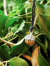 Tiny Wooden Acorn Pendant- For Strength & Courage- Pagan, Wicca, Witchcraft