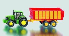 NEW SIKU 1650 BLISTER PACK John Deere Tractor with Silage Trailer Diecast Model