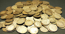 Silver coins - 10 x mixed date 3 pence pieces - pre 1946 Sterling Silver 92.5 %