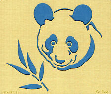 Embossingschablone Prägeschablone Metallschablone LeSuh Pandabär (571073)
