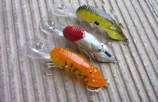 Hight quality 3Pcs/lots Fishing Fish locust Lure Crankbaits Baits Hook 8g 9cm