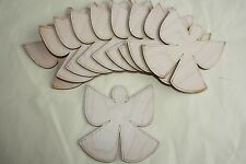 pack of 10 laser cut wood snow angels Christmas embellishments tags