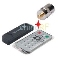 DVB-T USB stick with FM+DAB RTL2832U+R820T and Antenna adapter TV-f to MCX-m