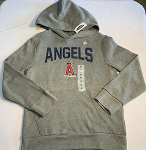 MLB Anaheim Angels Kids ~ Gray Long Sleeve Graphic Hoodie ~ Size Medium & Large