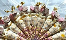 Pre filled wedding favour hen party sweet cones party bags PERSONALISED