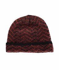 MISSONI brown wool blend beanie hat Small