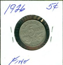 1926 CANADA  5 CENTS FINE