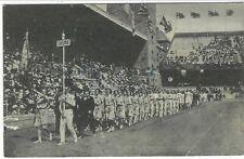 1912 Stockholm Olympics Finnish postcard of Finnish team in stadium