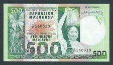 F.C. MADAGASCAR , 500 FRANCOS=100 ARIARY 1974 , EBC- ( VF+ ) , P.64a .