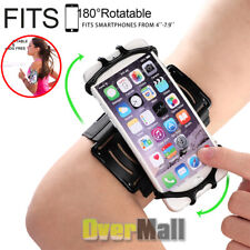 Universal Sports Armband 180°Rotatable Running Cell Phone Holder With Wristband