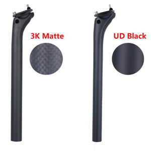 3K/UD Full Carbon Seatpost MTB Road Bike Seat Post Tube 27.2/30.9/31.6mm MATTE