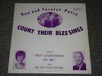 Ron and Carolyn Patty~Count Their Blessings~Sandi Patti~Christian Gospel~Xian LP