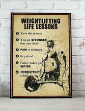 Weightlifting Life lessons Poster Gym Print Wall Art Lover Gift Home Wall Decor