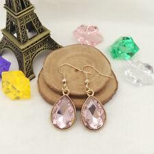 New Women Fashion Jewelry Vintage Design Rose Gold Water drops Earrings