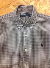 men's RALPH LAUREN Small, Black Check, Long Sleeve Shirt. Superb Cond.