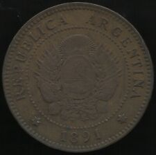 More details for 1891 argentina centavo coin | world coins | pennies2pounds