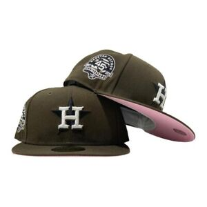 HOUSTON ASTRO MOCHA COLOR 45TH ANNIVERSARY PINK UV Brown Walnut Fitted 7 3/8