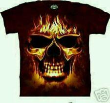 9715281eaf6 Original Skulbone Skulfire Flaming Skull T Shirt Xtra Large Size Mountain