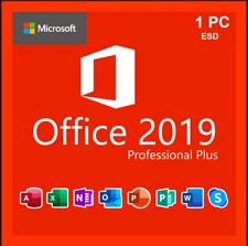 Microsoft ® Office 2019 Professional Pro Plus 🌗 Windows 32/64  🌗 GENUINE KEY