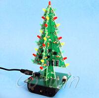 1PCS Christmas tree LED flashing light DIY Kit Red Green Flash Circuit LED