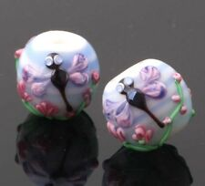 10pcs handmade Lampwork glass beads glass lovely dragonfly round 14mm