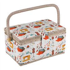 Fabric Sewing Basket Craft Box Sundry Storage Organizer Sewing Basket Household