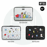 """BTS BT21 Official Authentic Goods 15"""" PU Laptop Sleeve 3TYPE  + Tracking Num"""