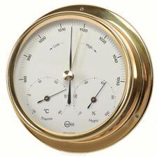 Weather Station Analog BARIGO Barometer Thermometer Hygrometer Brass 120mm
