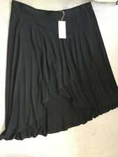 M&S FLOWING SKIRT WITH A CROSSOVER PLEAT AT FRONT THAT FOLDS DOWNWARDS -24 -BNWT