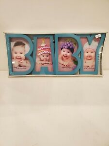 NEW Baby Picture Frame blue with BABY spelled out