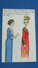 Vintage Comic Postcard 1910s Studio Photography Photographer Photo Camera Lens