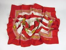 "CELINE: Red & Gold, 100% Silk, Scarf Foulard 34"" x 34"" $450"