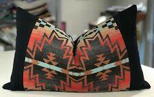 """One Ralph Lauren Turquoise """"Tribal Fair"""" Trading Blanket Custom Bolster Pillow"""