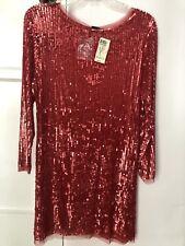 Arden B Red Seguin Women's Dress, L