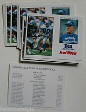(25) 1988 Seattle Seahawks Pocket Schedules (Steve Largent, Chuck Knox)