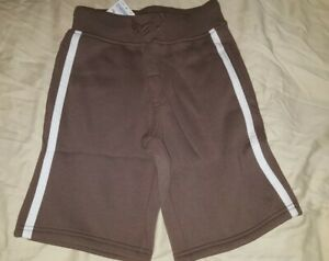 sz 8 New Gymboree Brown Sweat SHORTS boy jersey