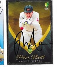 Peter Neville (Australia) signed Test Match Silver Edition Cricket Card +COA
