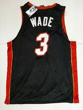 NWT AUTHENTIC BLACK DWAYNE WADE MIAMI HEAT JERSEY Mens SZ 52 2xl Vintage NBA