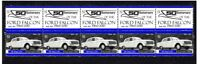FORD 50th ANNIV STRIP OF 10 MINT VIGNETTE STAMPS, XP FALCON 1