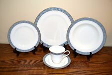 Mikasa Chaucer Dinnerware Service for 12 plus Serving Pieces Blue