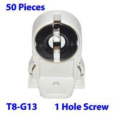 (50 PCs) T8-G13-1H Lamp Base Socket Plastic Holder for T8-T10 LED or Fluorescent