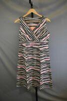 Royal Robbins All Around Sleeveless Dress- Women's Size M, Strawberry Stripe NEW