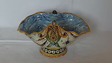 Cantagalli tin glazed Italian maiolica vintage Victorian antique bowl vase